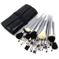 Wholesale Low Cost Makeup - Wholesale-2015 Fashion Hot Sale 40 PCS Professional High Quality Low Cost Makeup Brush Facial Beauty Set Black Cosmetic dropship
