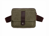 Wholesale Bag For Market - Casual Multi Function Vintage Square Men Canvas Waist Belt Bag Leisure Fanny Pack Male Bum Bags Market Trader Waist Money Bag for Phone