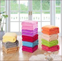 Wholesale Microfiber Blanket Soft - European sales, carved flannel (coral velvet) solid blanket, super soft blankets, autumn and winter warm blanket