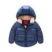 Wholesale Winter Feather Jacket Girls - 2015 baby children parkas christmas warm jacket 4 color boys girls winter snowsuit coat outerwear kids Windproof parkas 2-7year