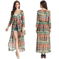 Wholesale Vogue Boho Chiffon Dress - Free shiping New Vogue Trendy Women Boho Summer Chiffon Long Gypsy Maxi Cardigan Shirt Dress order<$18no track