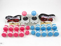 joystick kampfspiele großhandel-Wholesale-Arcade DIY Kit Teile USB Encoder zum PC + 2x Joystick + 20x Push Button für Arcade MAME Kampfspiele