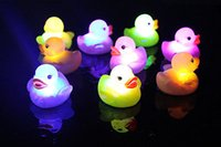 Wholesale Kids Jump Ball - Led Toys Baby Toys Kids Toys 1X Baby Kids BU Bath Bathing Duck Funny Multi Color Changing Flashing LED Toy US