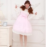 Wholesale-japanischen Rosa / Light Purple Organza Lace Trim JSK Sweet Lolita Cosplay Princess Dress