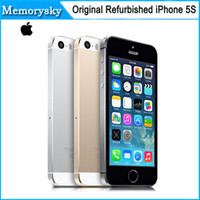 "Wholesale I5s Phones - Original Apple iPhone 5S Unlocked iPhone 5S i5S Mobile Phone Dual-core 32GB 4.0""IPS A7 iOS 8 3G 8MP WIFI Cellphone Refurbished 002832"