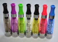 Wholesale Evod Cartomizer Dhl Free Shipping - 10pcs CE6 CE5 CE4 clearomizer replaceable wick cartomizer with various colors for ego CE5 EGO-ce6 via H2 MT3 evod CE5+ DHL free shipping