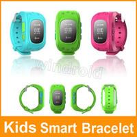 caixa do relógio de pulso dos miúdos venda por atacado-Pulseira de pulso Kids Smart Bracelet F13 Smartband Digital Watch Posição GPS Chamada Bidirecional SOS Communicator IOS Telefone Android + caixa de varejo