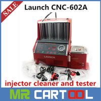 Wholesale Injector Cleaning Tester - [LAUNCH Distributor] 100% Launch CNC602A CNC-602A injector cleaner tester 220V With English Panel DHL FEDEX Free shipping