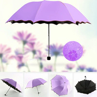 Barato Guarda Chuva De Vento Impermeável-Women Rain Umbrella Magic Flower Folding Umbrella Portable Anti-UV Totalmente guarda-chuvas Rain Windproof Sun Umbrellas 7 estilos YFA203