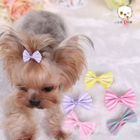 Wholesale Puppy Hair Bows - Handmade Designer Dog Hair Bows Cat Puppy Grooming Bows for Hair Accessories Wholesale Cheap Price
