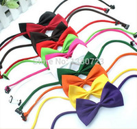 Wholesale Small Colorful Butterflies - 600pcs lot Factory Sale New Colorful Handmade Adjustable Dog Pet Tie butterfly Bow Ties Cat Neckties Dog Grooming Supplies