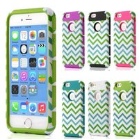 Wholesale Iphone Hybrid Pattern - NEW Women Case Lovely 6s Plus housing cases 2 in 1 hybrid PC+TPU case for iphone 6 6s mobile phone Wave Pattern bags back covers