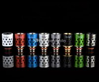 Wholesale delrin drip tips wide bore resale online - 510 Wide Bore Drip Tips Honeycomb Drip Tip Delrin with Aluminum Mouthpieces for EGO Kanger Protank RDA Vaporizer Atomizer E Cig Tank