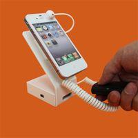 mobiltelefone displayhalter stehen großhandel-NEUE Mobile Handy Anti-Diebstahl-Sicherheitsanzeige Alarm Stand Halter Rack, mit Lade Alarm / Aluminium Stand Kostenloser Versand