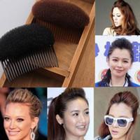 Wholesale Clip Hair Bun Brown - Hot Sale 2 Color Women Fashion Black Brown Hair Styling Hairstyle Braider Comb Clip Stick Bun Maker Braid Tool Hair Accessories
