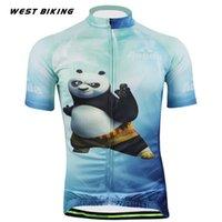 Wholesale Panda Cycling Top - Brand Tops Panda Men's MTB Bicicleta Clothing Ropa Ciclismo Maillot Raod Bicycle Short Sleeve Shirt Mountain Bike Cycling Jersey