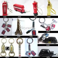 Wholesale London Key Rings - Wholesale-UK London keyring Olympic souvenirs 2015 new London souvenirs key chains UK key ring mixed designs free shipping !