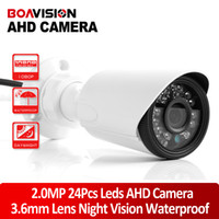 Wholesale Surveillance Cameras Indoor Bullet - Mini Analog High Definition Surveillance 2.0mp Bullet AHD Camera 1 3'' CMOS 1920*1080P CCTV Camera Security Waterproof Outdoor IR 20M IR-Cut