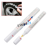 Wholesale Tyres For Motorcycle - Tyre Marker Pen For Car Bike Fast Drying Ink Waterproof White Permanent Markings Motorcycle Bike Wheel