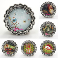 Wholesale Cabochon Brooch - Free Shipping New Arrival Holiday Christmas Jewelry Cabochon Style Xmas Santa Christmas Brooch Pin for Merry Christmas Jewelry Gift