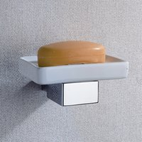 CLOUD POWER Ottone piatto di sapone e titolare con Wall Mounted, Chrome Hardware accessori per il bagno con Soap Box
