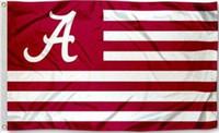 Wholesale Alabama Flags - Alabama Crimson Tide Roll Flag Banner 150CM*90CM 3*5FT Polyester Custom Banner Sports Decorative Flag