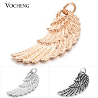 Hot selling Angel Wings Charm Slide Pendant 3 Colors Fashion DIY Jewelry Accessories VA-075