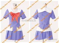 Wholesale Future Game - Wholesale-Free Shipping The Future Diary Heroine Gasai Yuno Cosplay Costume High Quality Custom School Uniform