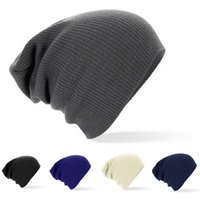 Wholesale Silk Head Caps - Knitted Beanie Hat Outdoor Skull Caps Warm Soft Hats Striped Sleeve Head Cap Solid Color Unisex Plain Autumn Winter For Men Women