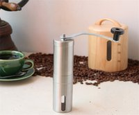 Food Mills spices and food - Fuloon Brand high quality Manual Stainless Steel Hand Crank Design Coffee Grinder for Coffee Beans Pepper and Spices
