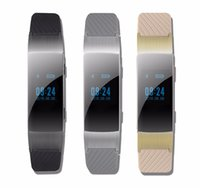 Wholesale Wrist Bluetooth Headset - DF22 Business and Sports Smart Bracelet Bluetooth wristband HiFi Sound Headset Digital Pedometer For Android Phone