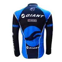 Wholesale Thermal Tights Cycling Team - Wholesale-Winter Cycling Jerseys 2015 Giant Team Thermal Long Sleeve Jersey Cycling Clothing Ropa Ciclismo + Thermal Cycling Tight Kit