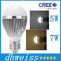 Wholesale Sensor E26 - LED Bulbs AC85-265V Lamps LED E27 motion sensor light 5W 7W auto Detection bulb Sound with Light sensor Lamp Tubes+CE ROHS