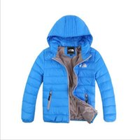 Wholesale Kids Clothes For Boys - Baby Boys Jacket 2017 Winter Jacket For Girls Jacket Kids Warm Hooded Pure Color Infant Boys Coat Children Outerwear Clothes