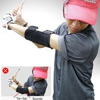 Wholesale Golf Equipment Training Aids - Golf Training Aid Swing Straight Practice Golf Elbow Brace Corrector Support Arc Golf Equipment Y0148