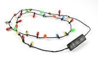 Wholesale Fedex Toys - Wholesale 8 lights lighting Led Necklace Necklaces Flashing Beaded Light Toys Christmas gift DHL Fedex Free shipping