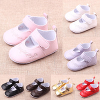 Wholesale Leather Shoes Wholesalers China - Baby Shoes Baby Shoes Size 2 Comfortable Soft And Anti-Slip Flower Printed Six Colors Girls Shoes Baby Shoes China