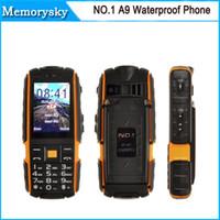Wholesale Super Model Phone - NO.1 A9 Waterproof Phone Shockproof Pressure Proof Freeze-proof Dust-proof 4800mAh Super Flashlight FM No Earphone 010052