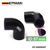 "Radiator & Parts EP-SS90RS57 1.2-2.5T EPMAN Universal 2.25"" 3 Ply 90 Degree Elbow Silicone Hose Coupler 57MM Turbo Intake EP-SS90RS57"