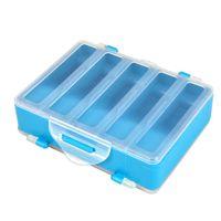 Wholesale Plastic Box Compartments Double Sided - New 10 Compartments Fishing Box Double Sided Transparent Visible Plastic Fly Fishing Explosion Hook Set Box 12.8 * 10 * 3.7cm