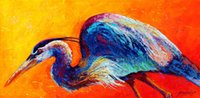 Wholesale Daddy Long Legs - Daddy long legs great blue heron Artwork Unframed Wall Art Animal Oil Painting on Canvas the Colored Fashion Design High Quality