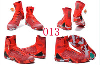 Wholesale Leather Shoes Nude Colour - 18 Colours (With Box) Wholesale Kobe KB 9 IX Elite Christmas Men Basketball Sport Shoes