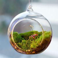 стеклянные садовые украшения оптовых-6шт/комплект висит стеклянный шар террариумов,комнатных растений подвесные горшки,подсвечники для свадебного декора,украшения сада,подарков для друзей