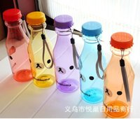 Wholesale 10 pieces Unbreakable candy color SAN X Rilakkuma ML bottle sports leaktightness cup portable readily cup Water Bottles