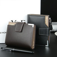 Wholesale Luxury Leather Portfolios - Fashion Brand wallet Men leather pocket Short Wallet zipper coin portfolio Handy luxury wallet 3 Fold Male Purse Cards wallets
