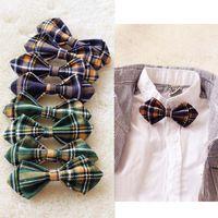 Wholesale Tuxedo Bow Tie Styles - 2015 Children Baby School style Bow Ties Boys Formal Tuxedo Bowtie Girls Bow Tie Green Kids Wedding Necktie C3631