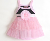 Wholesale Dresses Babys - Big Flower Tutu Dress Baby Princess Dress Babys Girls Sleeveless Summer Dress For 0~2T Baby Girl Good Quality