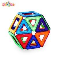 manyetik plastik blok toptan satış-Zhejiang Gangbo renk kutusu Üreticileri için Set manyetik bloklar bina oyuncaklar boys plastik manyetik yapı taşları manyetik oyuncak