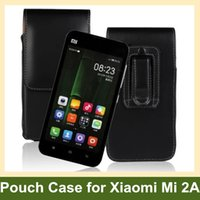 Wholesale Xiaomi 2a Free Shipping - Wholesale High Quality Belt Clip PU Leather Vertical Flip Cover Pouch Case for Xiaomi Mi-2A Phone 2A Mi2a Free Shipping