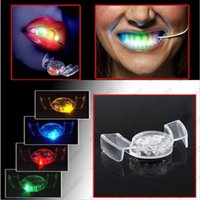 Wholesale Light For Mouth - New Fashion! Novelty LED Lights for Your Teeth LED Flashing Mouth Best Props For Halloween & Party